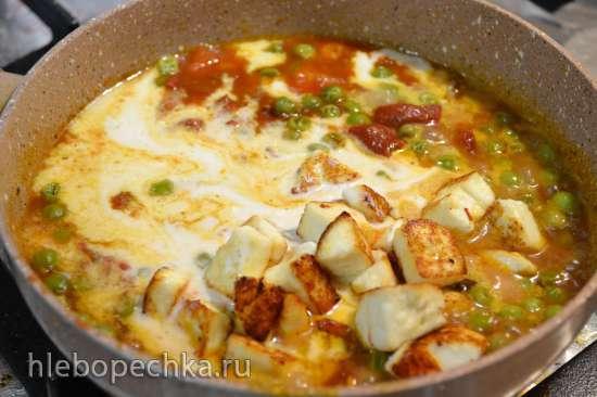 Соус для пасты с тофу и кедровыми сливками