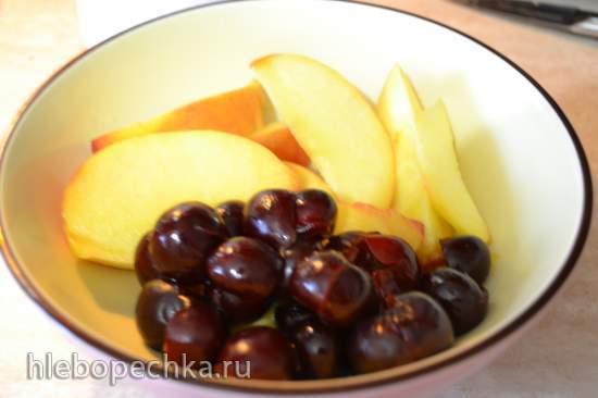 Смузи «Вишневый персик» с кокосовым молоком