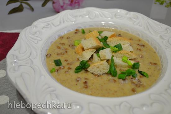 Суп-пюре гречневый с персиком и кокосовым молоком (пароварка-блендер)
