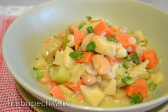 Рагу овощное с фасолью в кокосовом молоке
