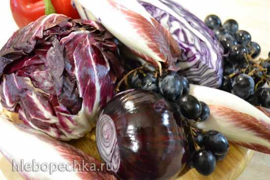 Салат осенний в красных тонах