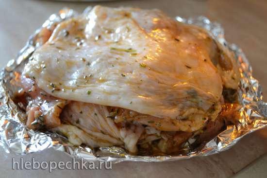 Шаверма (шаурма) из красного мяса курицы в аэрогриле