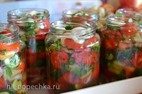 Салат овощной консервированный (без масла и без пассеровки лука)