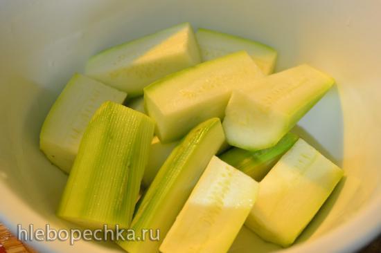 Рагу овощное с грибами, бататом, топинамбуром (готовим в Цептере, без воды)