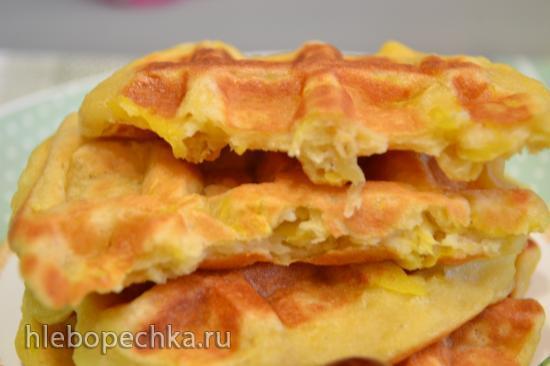 Мягкие  манговые вафли безглютеновые