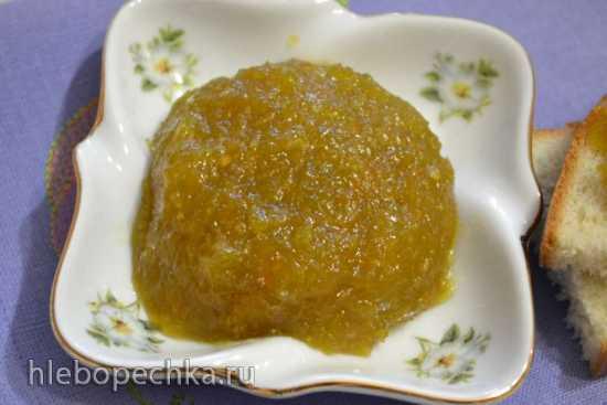 Джем из зеленых помидоров с апельсином