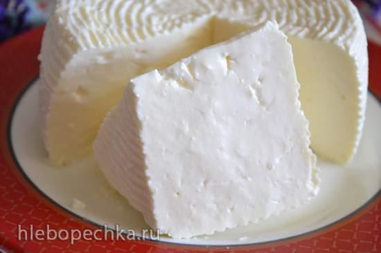 Домашний сыр натуральный, мягкий (на пепсиновой закваске)