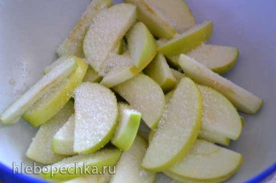 Громадный оладень с яблоками, на кефире (Tortilla Chef 118000 Princess)