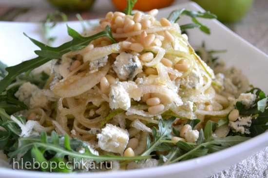 Салат «грушетти» с зеленым сыром (нарезка в спиромате)