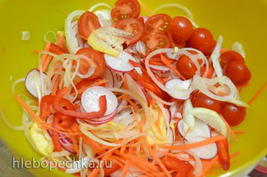 Овощи и зелень, заквашенные простоквашей и закваской (для вегетарианцев)