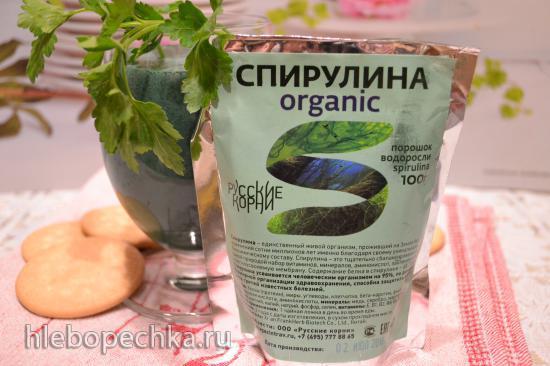 Молочный коктейль из кокосового молока со спирулиной (для вегетарианцев)