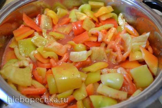 Лечо из сладкого перца с помидорами (венгерское lecso)