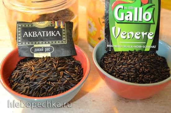 Оладьи «Рисовые негритята» из муки дикого черного риса