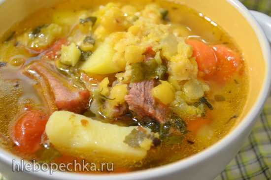 Суп гороховый в скороварке Оурссон