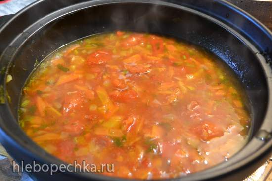 Паста «Четыре спагетти» под кисло-сладким соусом с кокосовыми сливками