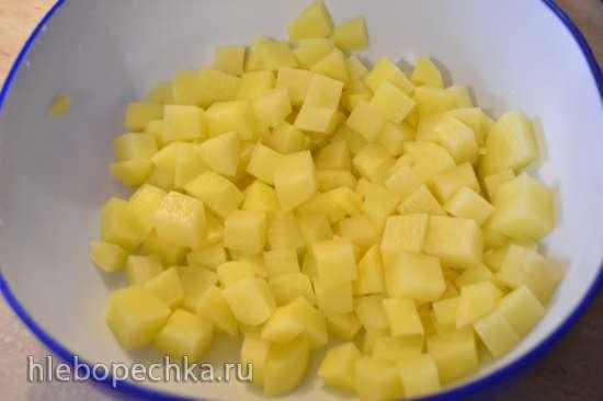 Каша «Микс» с пастой, жареным нутом, и картофелем в скороварке (2-я степень поста)