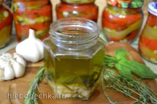 Перец сладкий вяленый в духовке, в ароматном масле