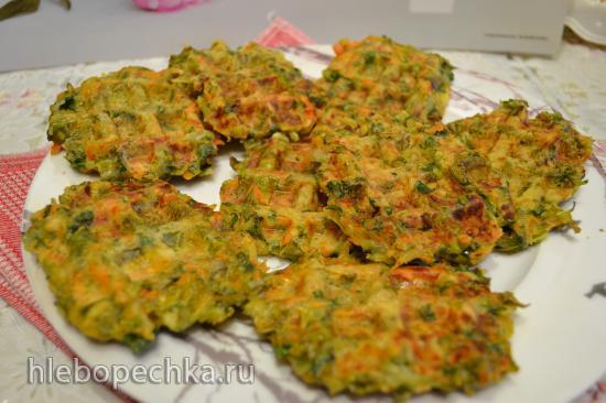Вафли мягкие овощные с капустой кейл, зеленью, без глютена