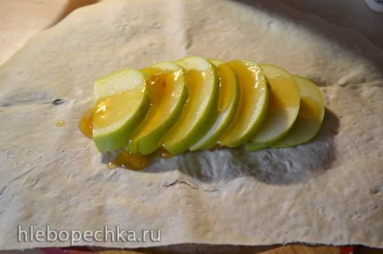 Яблочный лавашик (быстрый яблочный штрудель)