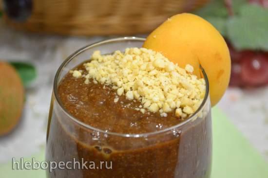 Смузи абрикосовый с льняными отрубями и керобом