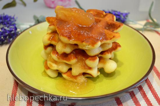 Вафли мягкие на кефире без глютена, без яиц (для вегетарианцев)
