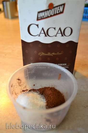 Кокосовое молоко домашнего приготовления из кокосовой стружки и какао из него