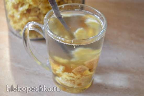 Растворимый имбирно-лимонный чай (электросушилка дегидратор Oursson)