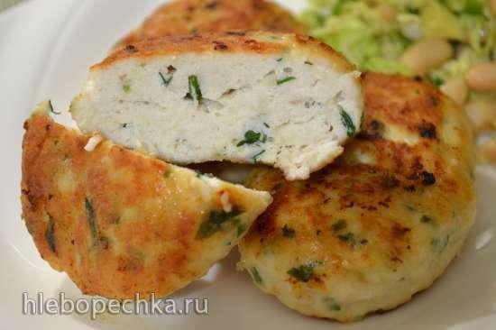 Котлеты «белые» из куриной грудки и сливочного сыра