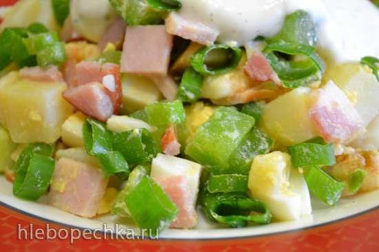 Овощной салат с замороженными огурцами (из морозилки)