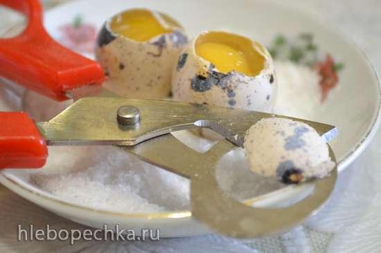 Очиститель яичной скорлупы + ножницы для вскрытия перепелиных яиц