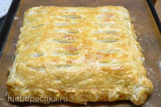 Пирог закрытый с начинкой «ленивые голубцы»