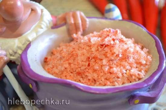Розовая соль перечная (красные перцы чили)
