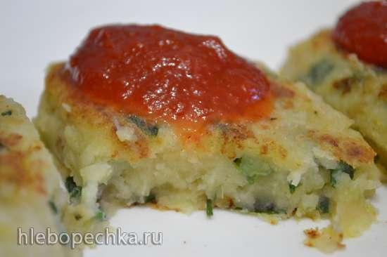 Котлеты фасолево-картофельные с зеленым луком