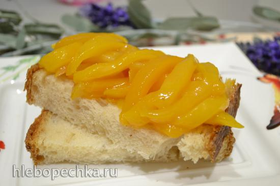 Фруктовая сальса из груши и манго с облепиховым соком