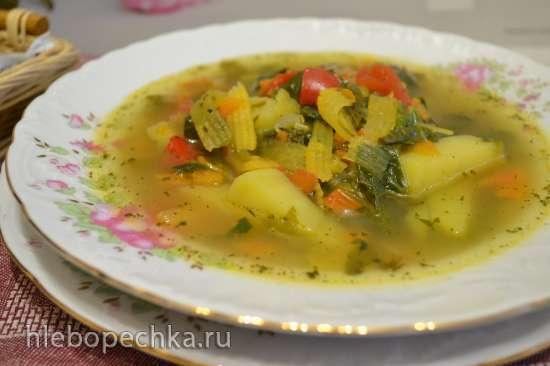 Два постных супа на одной основе (с репой и со шпинатом)