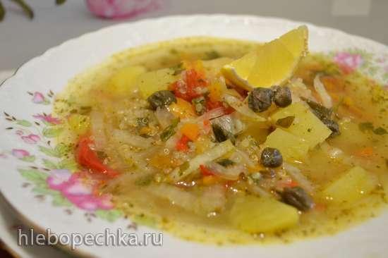 Суп овощной постный с пекинской капустой и крупой киноа