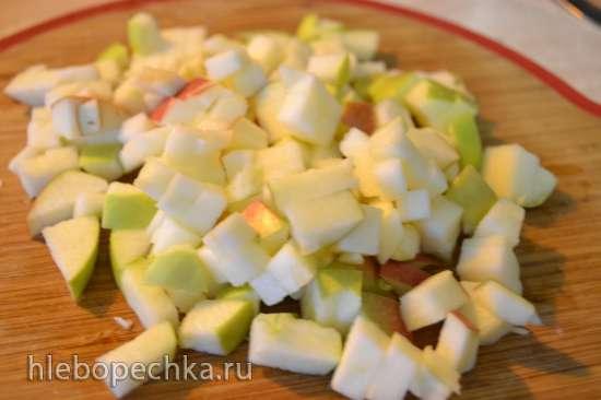 Канихуа отварная, обжаренная с луком и яблоком