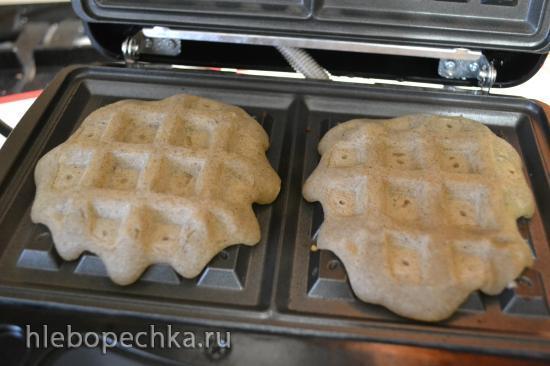Мягкие хлебные вафли с мукой амаранта и семян кунжута