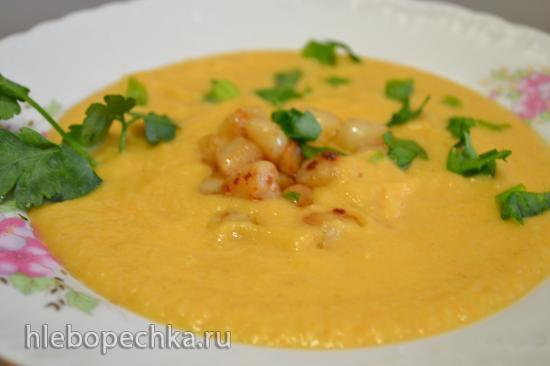 Крем-суп овощной с морскими гребешками в блендер-пароварке Beaba Babycook