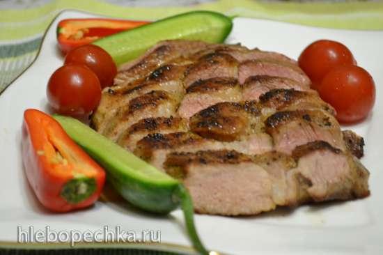 Стейк из свиной шейки (на сковороде)