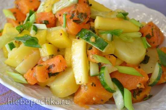 Теплый салат с бататом
