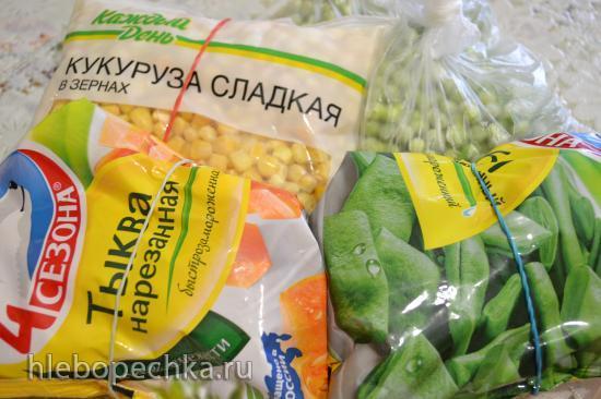 Суп-пюре овощной с персиками и кокосовым молоком (блендер-пароварка)