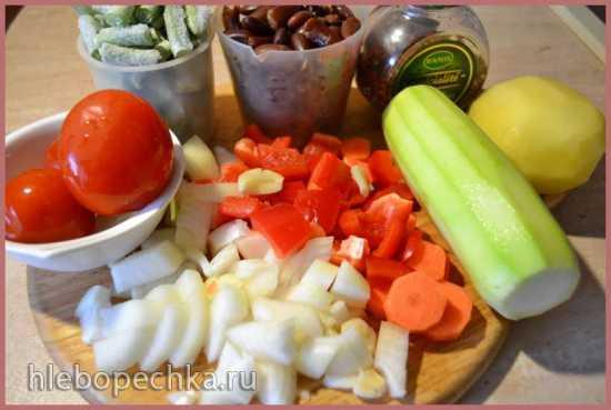 Минестроне с фасолью и кабачками