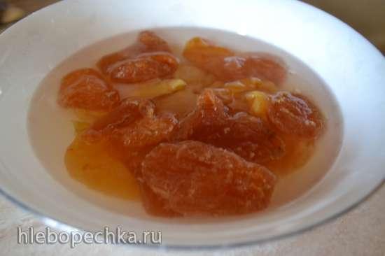 Паста грушево-персиковая с бразильским орехом и чиа