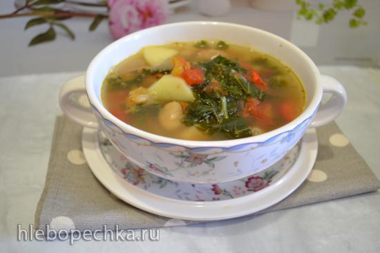 Суп-пюре фасолевый с капустой КЕЙЛ (для вегетарианцев)