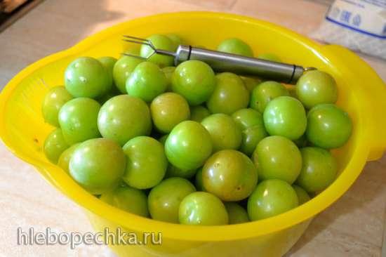 Джем из зеленой алычи