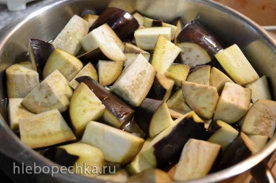 Салат овощной с баклажанами консервированный (без масла и пассеровки)