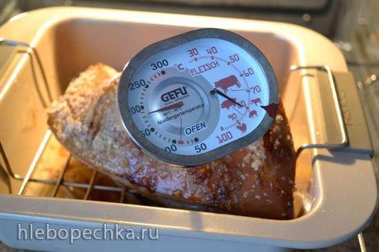 Грудинка свиная запеченная с хрустящей кожей (духовка)