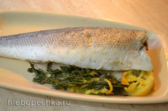 Белая рыба, сибас на пару, с тайским соусом