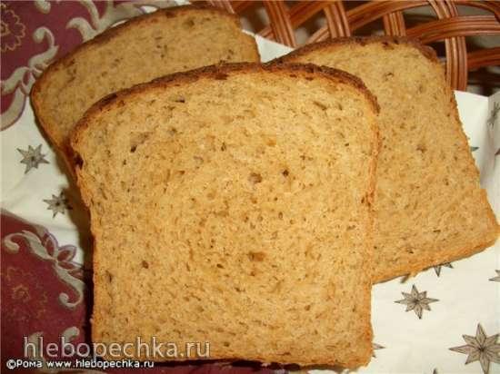 Хлеб пшенично-ржаной с овечьим сыром, сушеными томатами и специями (духовка)